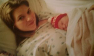 Rebecca and newborn Zach